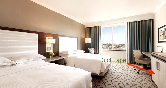 hotel room duct tape